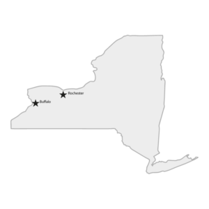 NY State Map Buffalo and Rochester