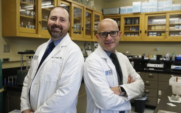 Internationally recognized tobacco experts, Richard O'Connor, PhD, (left) and Maciej Goniewicz, PhD, PharmD, are leading the WNY Center for Research on Flavored Tobacco Products at Roswell Park.